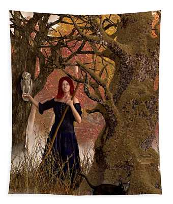 Witch Of The Autumn Forest  Tapestry