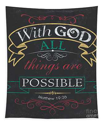 With God Tapestry