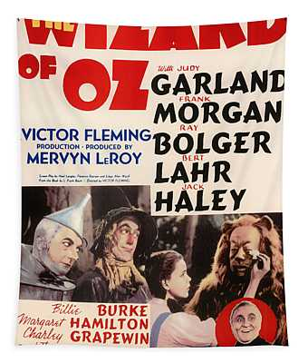 Wizard Of Oz Vintage Movie Poster Tapestry