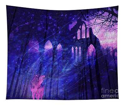 Wolf And Magic Tapestry