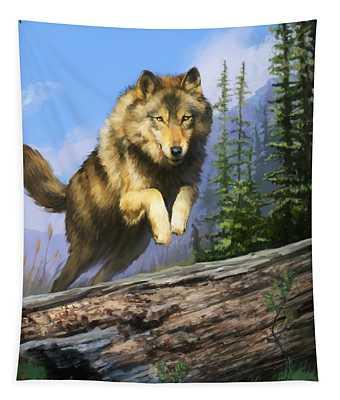 Wolf Run Tapestry