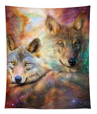 Wolf - Spirit Of The Universe Tapestry