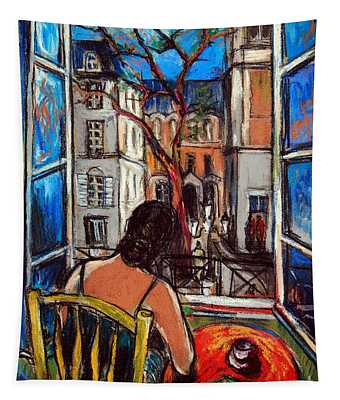 Woman At Window Tapestry
