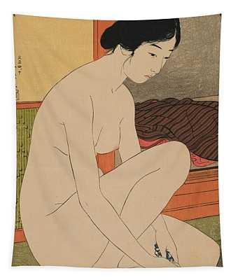 Woman Bathing Taisho Era Tapestry