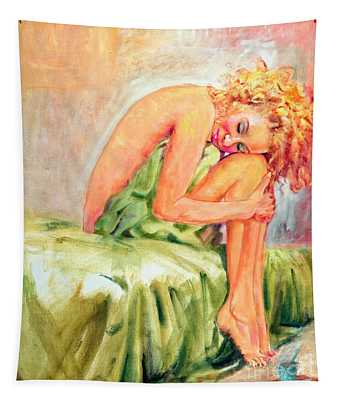 Woman In Blissful Ecstasy Tapestry