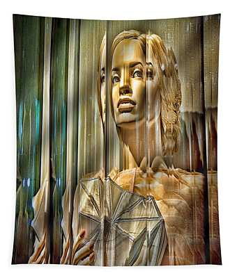 Woman In Glass Tapestry