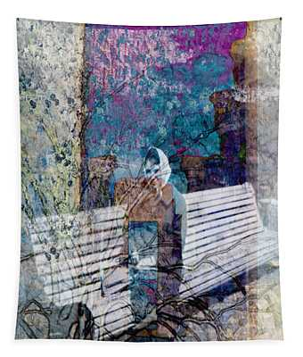 Woman On A Bench Tapestry