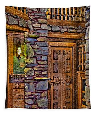 Wooden Door Tapestry
