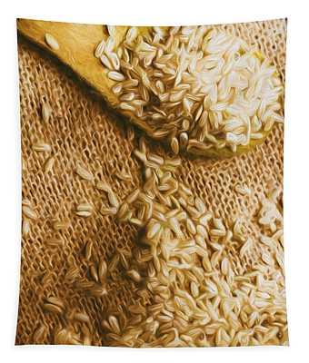 Asian Food Digital Art Wall Tapestries