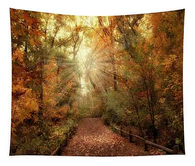 Tapestry featuring the photograph Woodland Light by Jessica Jenney