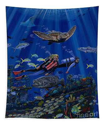 Wreck Divers Re0014 Tapestry