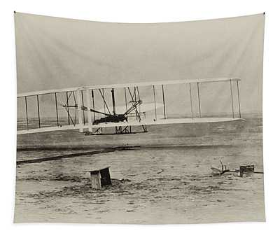 Wright Brothers - First In Flight Tapestry