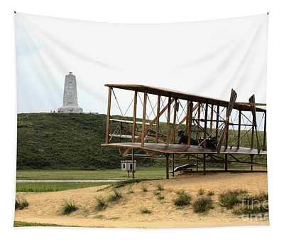 Wright Brothers Memorial At Kitty Hawk Tapestry
