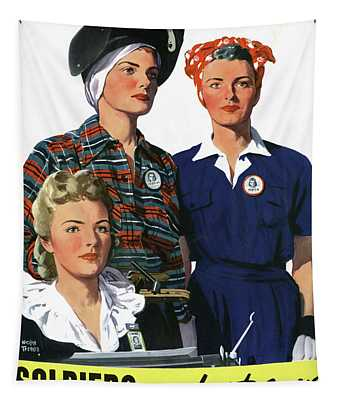 Wwii Poster, C1944 Tapestry