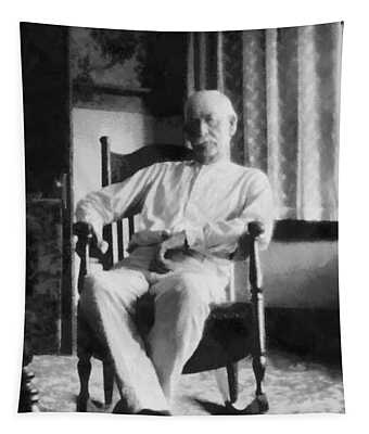 Wyatt Earp In A Rocking Chair Tapestry