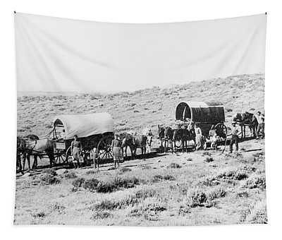 Wyoming Wagon Train Tapestry