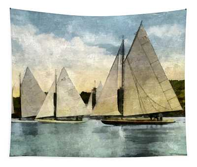 Yachting In Saugatuck Tapestry