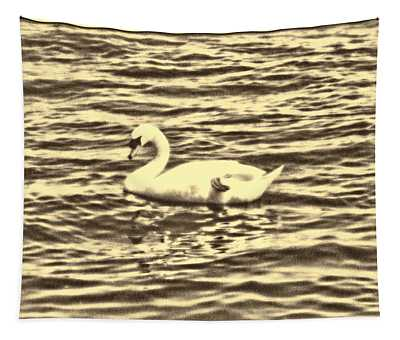 Tapestry featuring the photograph Ye Olde Swan by Shawn Dall