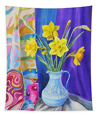 Yellow Daffodils Tapestry