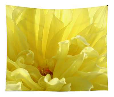 Yellow Dahlia Burst Tapestry