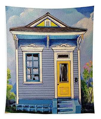 Yellow Door Shotgun  Tapestry