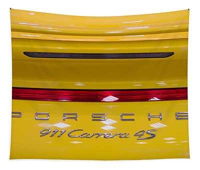 yellow Porsche Tapestry