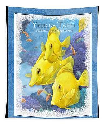 Yellow Tang Tapestry