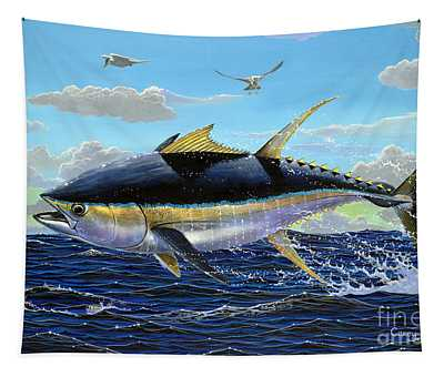 Yellowfin Crash Off0081 Tapestry