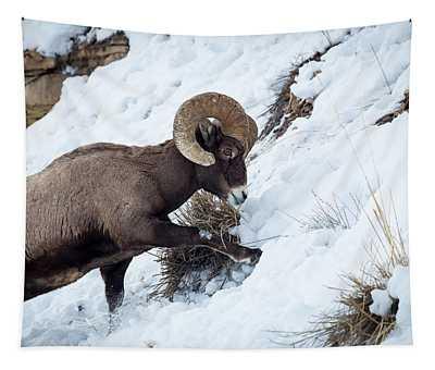Yellowstone Bighorn Tapestry