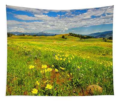 Yellowstone Blacktail Plateau Tapestry