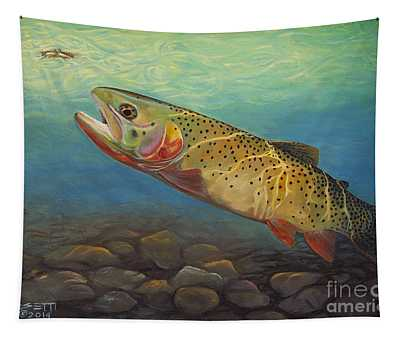 Yellowstone Cut Takes A Salmon Fly Tapestry