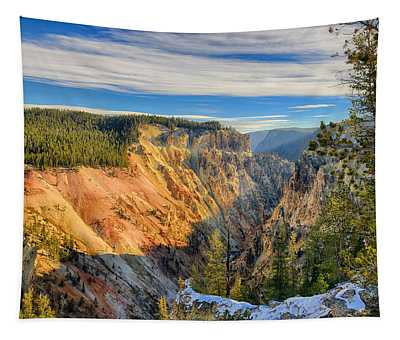 Yellowstone Grand Canyon East View Tapestry