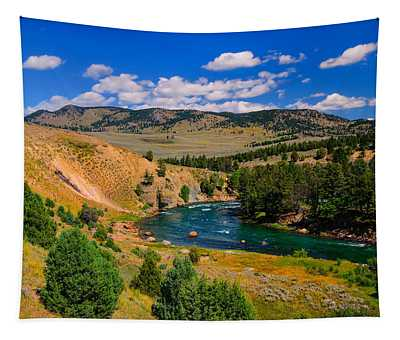 Yellowstone River Bend Tapestry