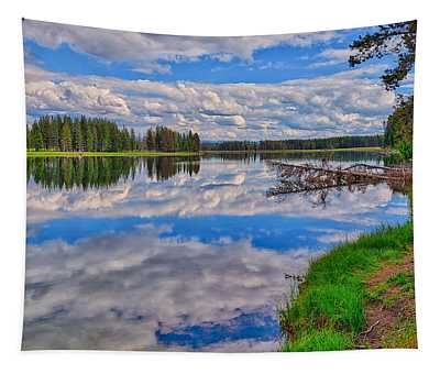 Yellowstone River Reflections Tapestry