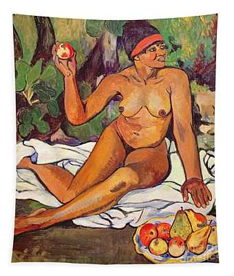 Young Half Caste Woman Tapestry