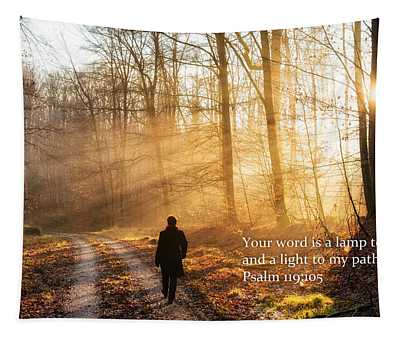 Your Word Is A Light To My Path Bible Verse Quote Tapestry
