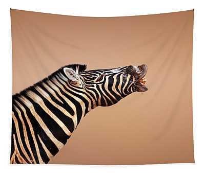 Zebra Calling Tapestry