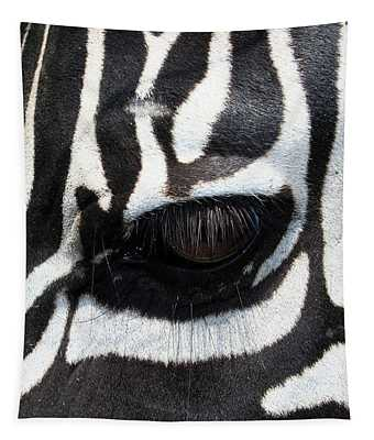 Zebra Eye Tapestry