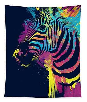 Zebra Splatters Tapestry