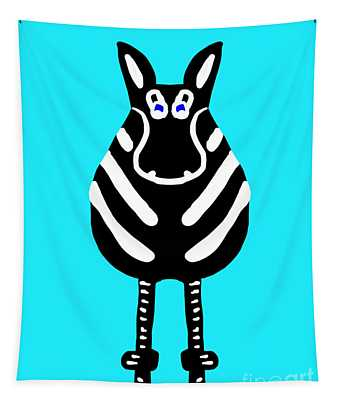 Zebra - The Front View Tapestry