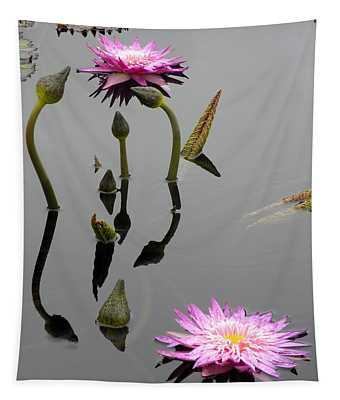 Zen Lilies Tapestry