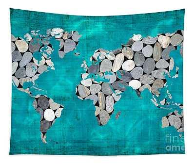 Zen World Map Tapestry