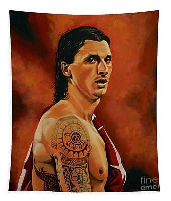 Zlatan Ibrahimovic Painting Tapestry