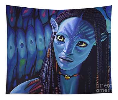Zoe Saldana As Neytiri In Avatar Tapestry
