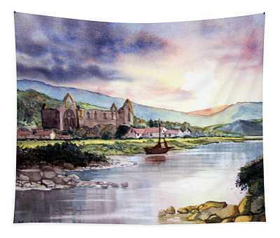 Late Evening At Tintern Abbey Tapestry