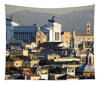Rome's Rooftops Tapestry