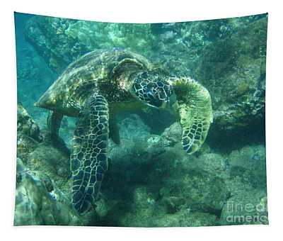 Green Sea Turtle Hawaii Tapestry