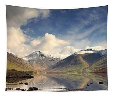 Mountains And Lake At Lake District Tapestry