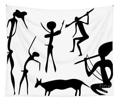 Primitive Art - Various Figures Tapestry