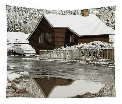Snowy Reflections Tapestry